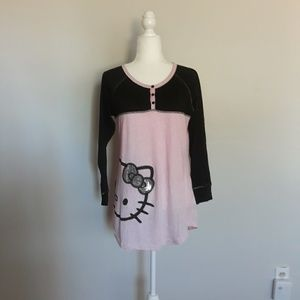 Hello kitty pink and black pajama